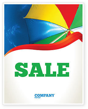 Holiday/Special Occasion: Umbrella on the Beach Sale Poster Template #02298