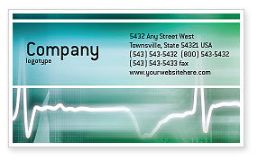 Medical: Cardio Business Card Template #02300