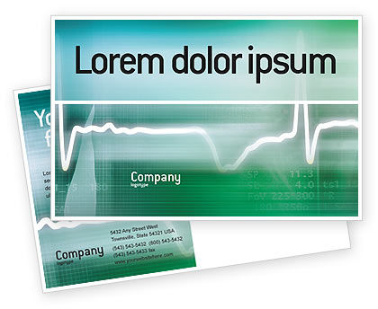 Medical: Cardio Postcard Template #02300
