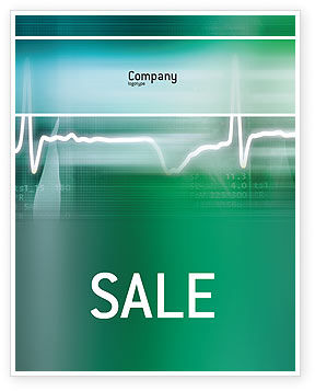 Cardio Sale Poster Template, 02300, Medical — PoweredTemplate.com