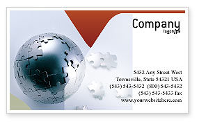 Global: World Puzzle Business Card Template #02301