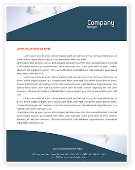 Global: World Puzzle Letterhead Template #02301