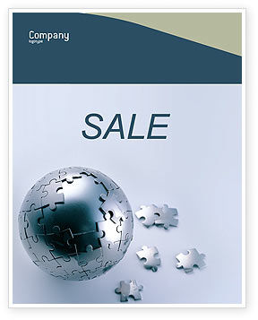 Global: World Puzzle Sale Poster Template #02301