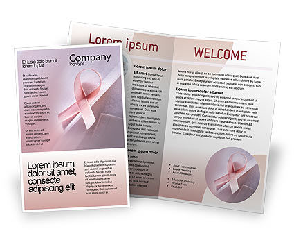 Breast Cancer Awareness Brochure Template, 02302, Religious/Spiritual — PoweredTemplate.com