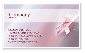 Religious/Spiritual: Breast Cancer Awareness Business Card Template #02302