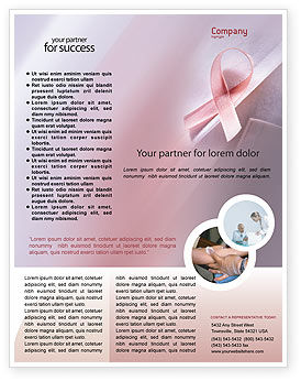 breast cancer brochure template - breast cancer awareness flyer template background in