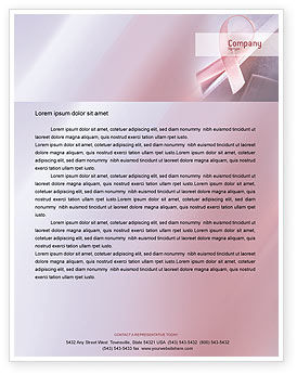 Breast Cancer Awareness Letterhead Template, 02302, Religious/Spiritual — PoweredTemplate.com