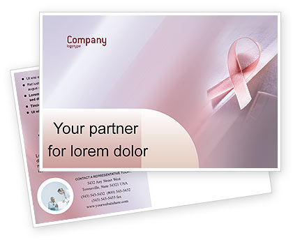 Breast cancer awareness postcard template in microsoft for Breast cancer brochure template free