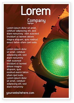 Business Concepts: Light Signal Ad Template #02304