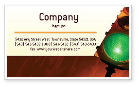 Business Concepts: Light Signal Business Card Template #02304