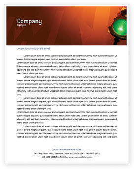 Business Concepts: Light Signal Letterhead Template #02304