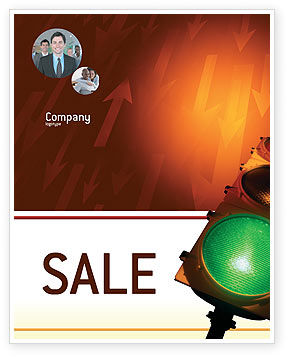 Business Concepts: Light Signal Sale Poster Template #02304