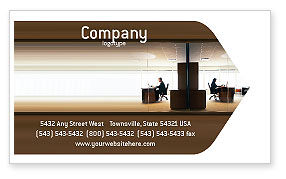 Business: Kantoor Ruimte Visitekaartje Template #02306