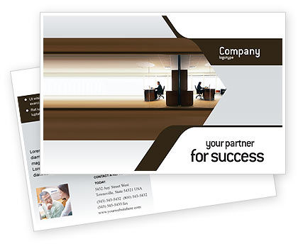 Business: Office Space Postcard Template #02306