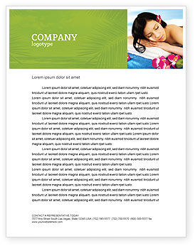 Spa Letterhead Template, 02307, Holiday/Special Occasion — PoweredTemplate.com