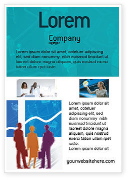 Work In The Office Ad Template, 02311, Business — PoweredTemplate.com