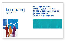Business: Work In The Office Business Card Template #02311