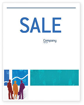 Work In The Office Sale Poster Template, 02311, Business — PoweredTemplate.com
