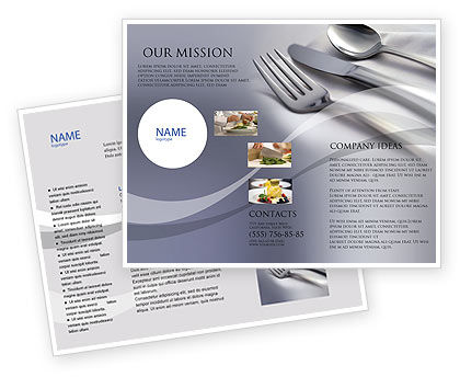 Careers/Industry: Dinner Brochure Template #02312