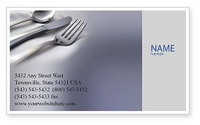 Careers/Industry: Dinner Business Card Template #02312