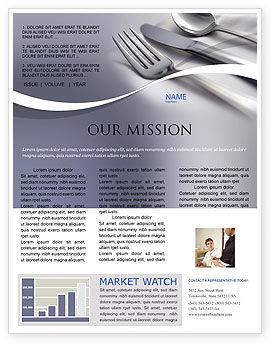 Careers/Industry: Dinner Newsletter Template #02312
