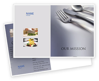 Dinner Postcard Template, 02312, Careers/Industry — PoweredTemplate.com