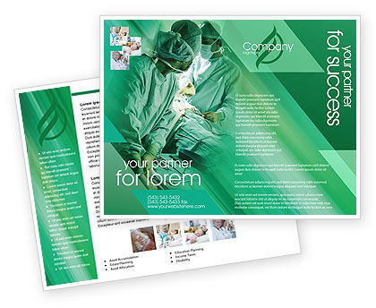 Medical: Scrub Nurse Brochure Template #02313