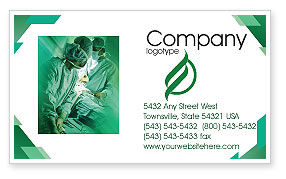 Medical: Scrub Nurse Business Card Template #02313