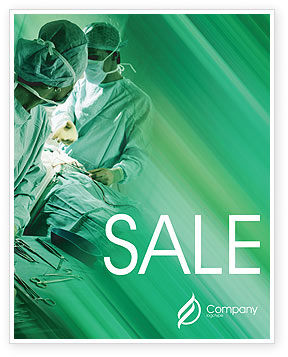 Scrub Nurse Sale Poster Template, 02313, Medical — PoweredTemplate.com