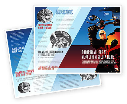 Cars/Transportation: Biker Brochure Template #02315