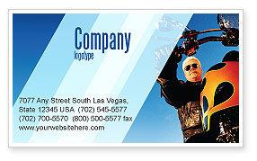 Cars/Transportation: Plantilla de tarjeta de visita - ciclista #02315