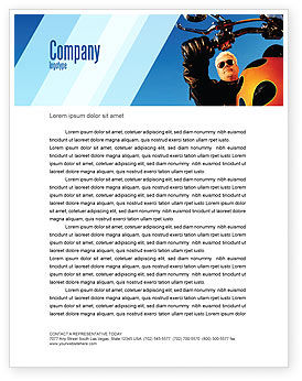 Cars/Transportation: Biker Letterhead Template #02315
