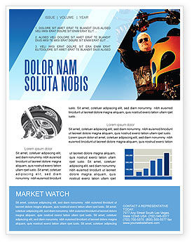 Cars/Transportation: Biker Newsletter Template #02315