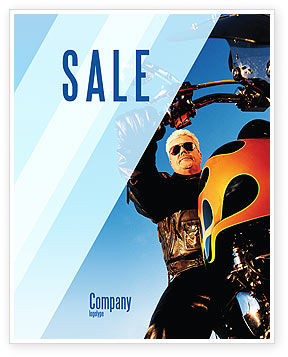 Biker Sale Poster Template, 02315, Cars/Transportation — PoweredTemplate.com