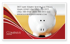 Financial/Accounting: Save Money Business Card Template #02316