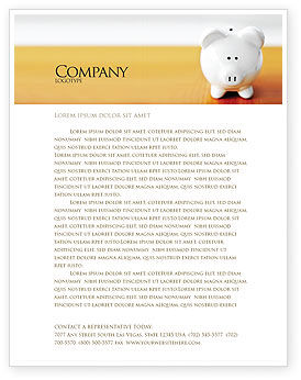 Save Money Letterhead Template, 02316, Financial/Accounting — PoweredTemplate.com