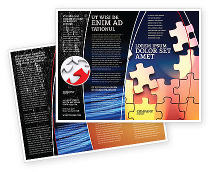 Game Puzzle Brochure Template, 02317, Consulting — PoweredTemplate.com