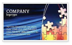 Game Puzzle Business Card Template, 02317, Consulting — PoweredTemplate.com