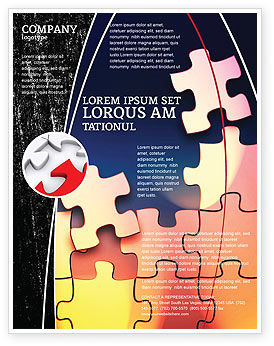 Game Puzzle Flyer Template, 02317, Consulting — PoweredTemplate.com