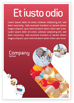 Medical: Pills In Collage Ad Template #02319