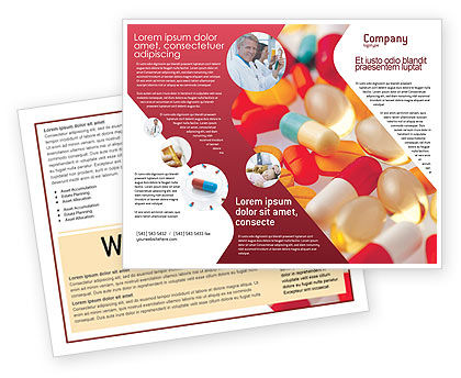 Medical: Pills In Collage Brochure Template #02319
