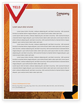 Construction: Tunnel On An Orange Background Letterhead Template #02320