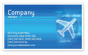 Airways Business Card Template, 02321, Cars/Transportation — PoweredTemplate.com
