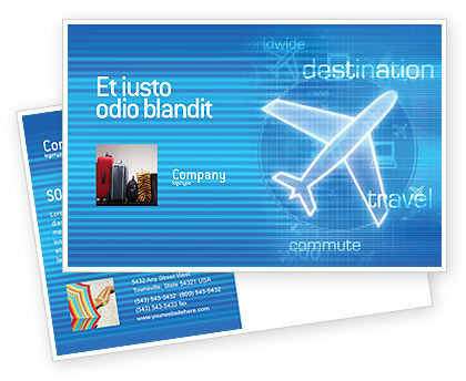 Cars/Transportation: Airways Postcard Template #02321