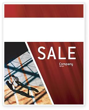 Handshake Sale Poster Template, 02326, Business — PoweredTemplate.com
