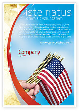 Flags/International: USA Flag Ad Template #02329