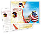 Flags/International: USA Flag Brochure Template #02329