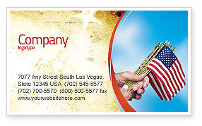 USA Flag Business Card Template