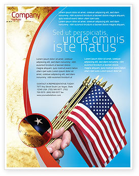 USA Flag Flyer Template, 02329, Flags/International — PoweredTemplate.com
