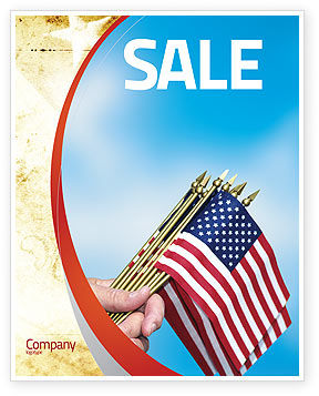 USA Flag Sale Poster Template
